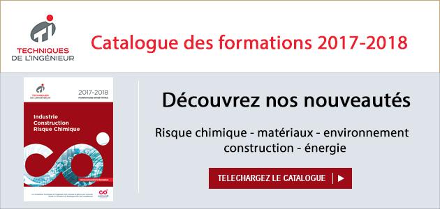 Catalogue Techniques de l'ingénieur Formations